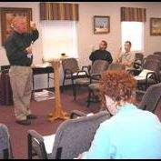 Dr. Curtis in classroom training missionaries.